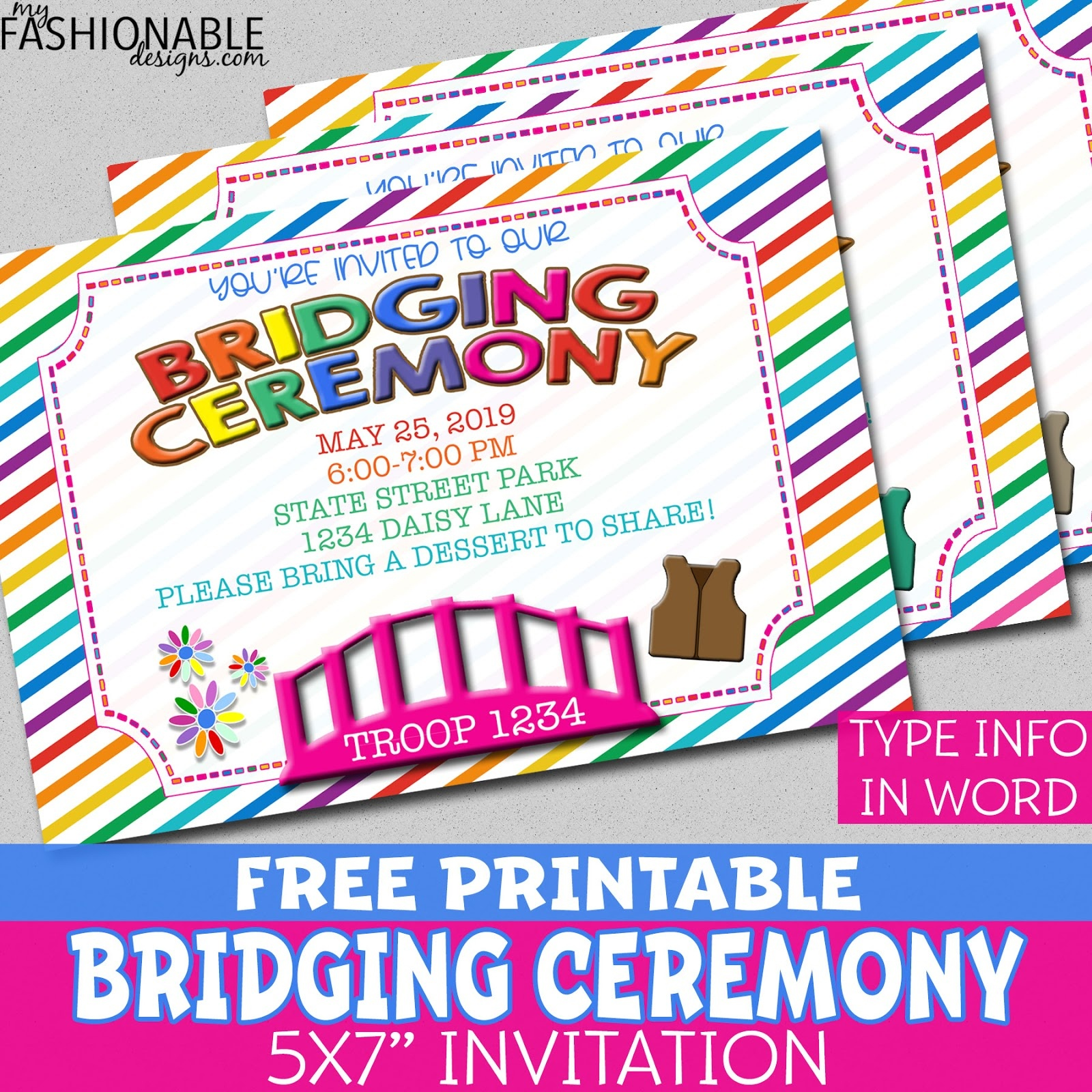 My Fashionable Designs: Free Printable Bridging Invitations - Free Bridging Certificate Printable