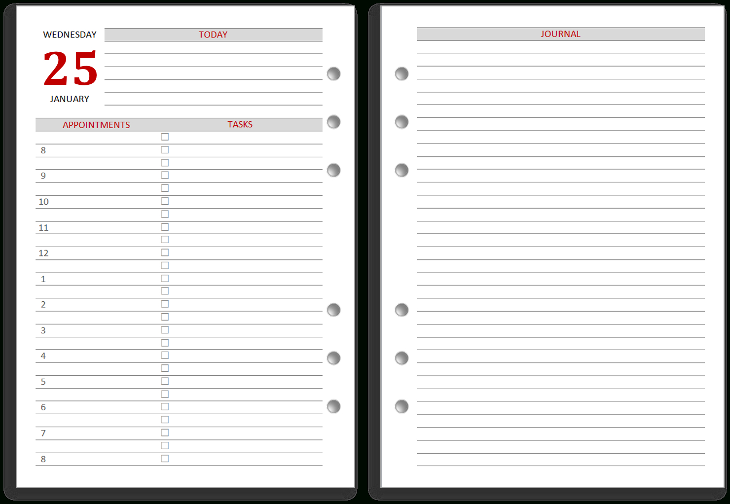 My Life All In One Place: Free 2018 Filofax Calendar (Diary - Free Filofax Printables 2017