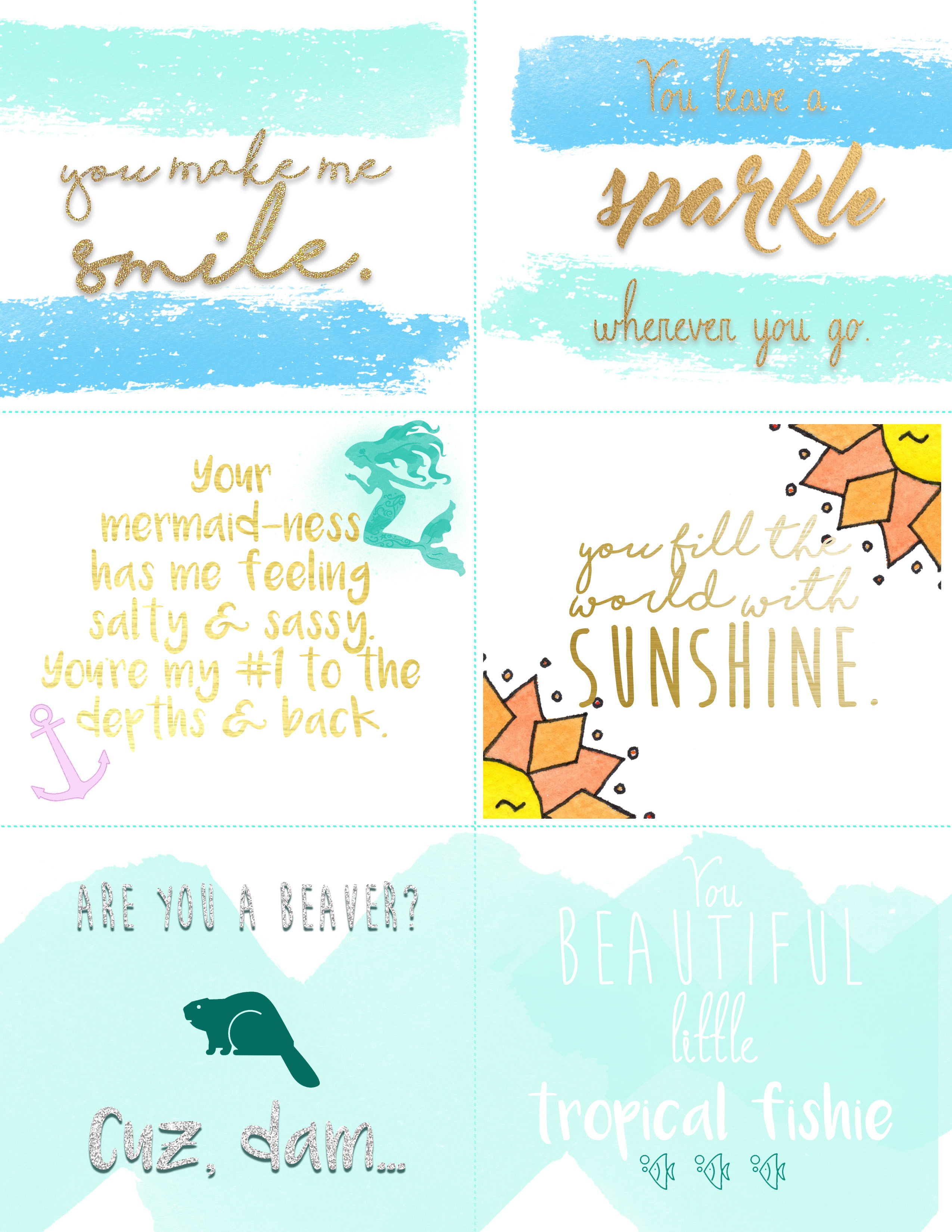 National Compliment Day: Cool Gear Compliment Print Out - Free Printable Compliment Cards