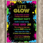 Neon Party Invitations Ideas | Projects To Try | Neon Party   Free Printable 80S Birthday Party Invitations