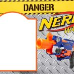 Nerf Gun Party Invitation Templates | Nerf Printables | Nerf   Free Printable Nerf Logo