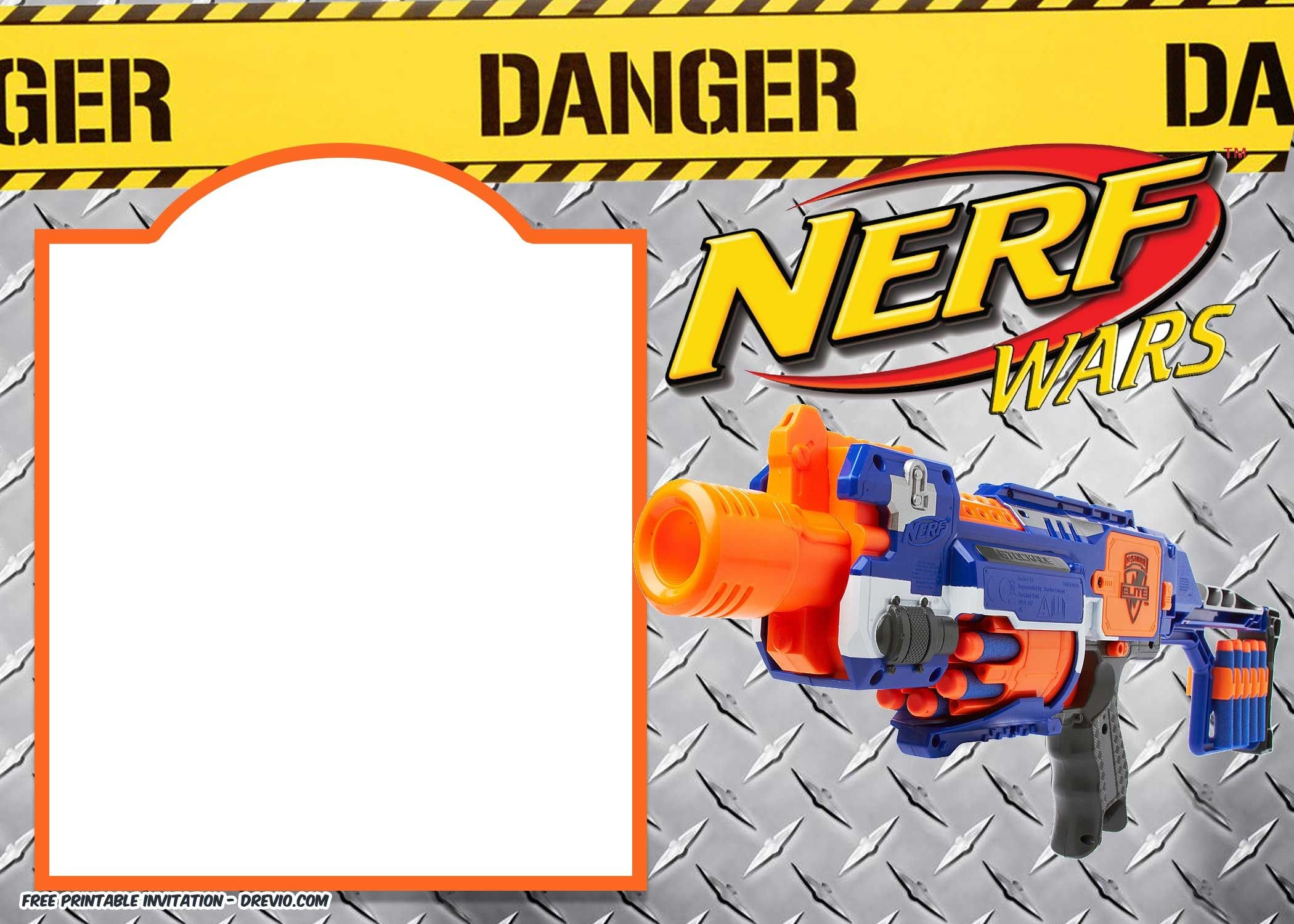 Nerf Gun Party Invitation Templates | Nerf Printables | Nerf - Free Printable Nerf