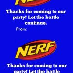 Nerf Party Loot Bag With Free Printable Tags | Jacob's | Nerf   Free Printable Nerf Logo