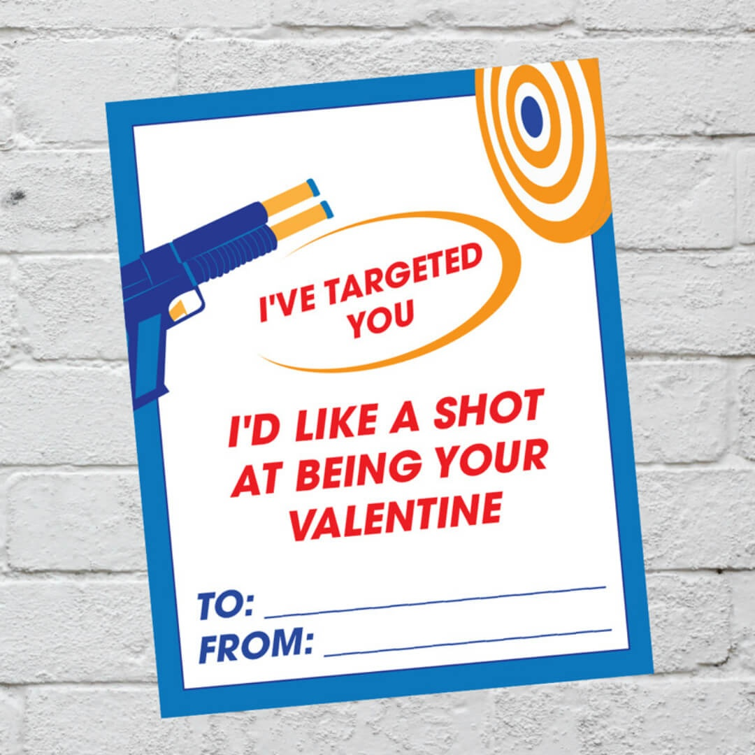Nerf Valentine Cards Printable | It Is A Keeper - Free Nerf Printables
