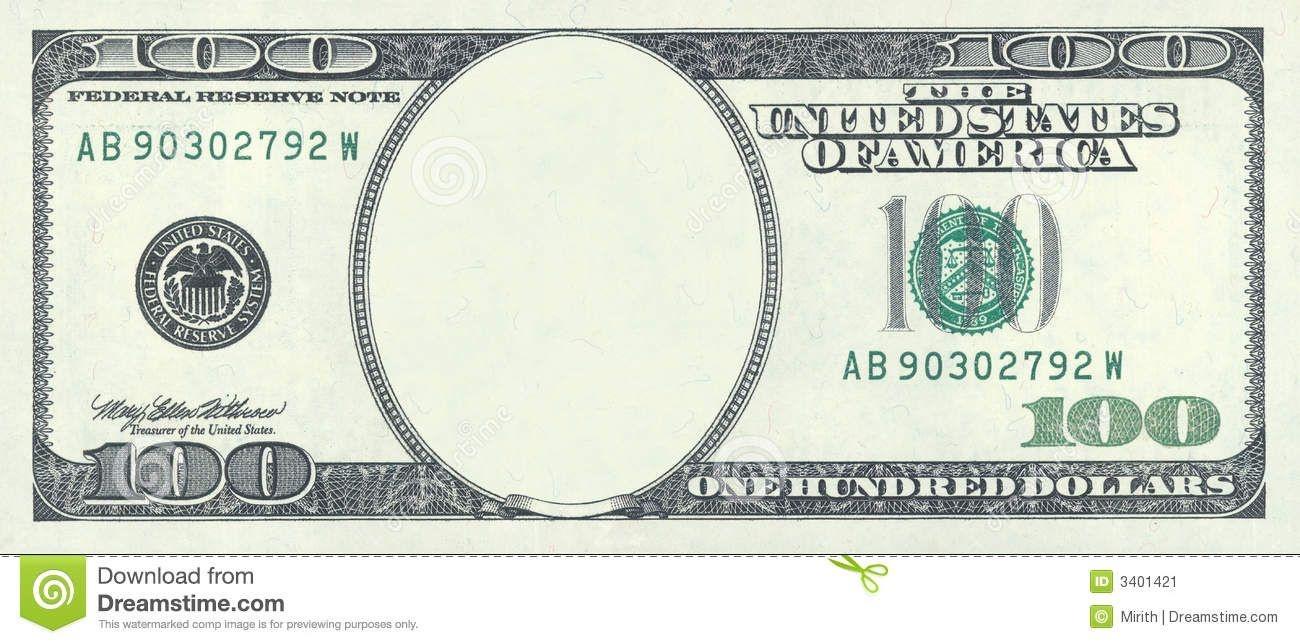 New 100 Dollar Bill Blank Template - Invitation Templates | 100Th - Free Printable Dollar Bill Template