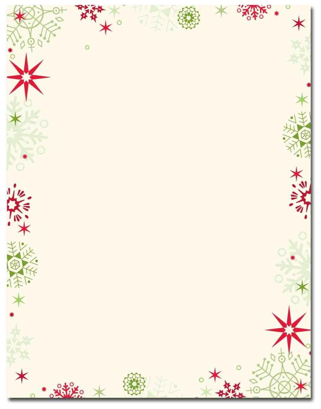 New Free Printable Christmas Stationary Borders At Temasistemi - Free Printable Christmas Stationary