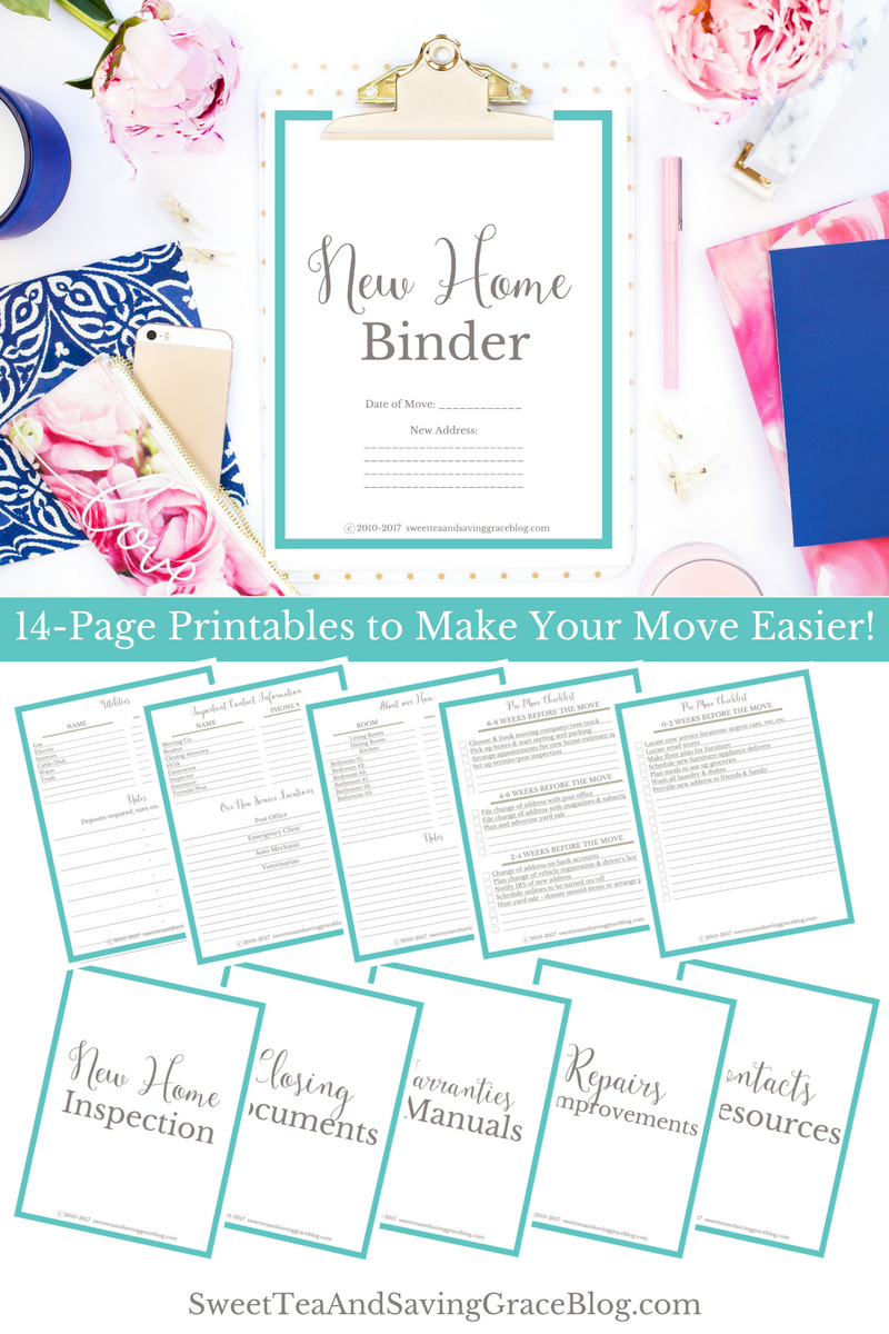 New Home Binder + Free Printables! | Sweet Tea Ministry - Free Printables For Home