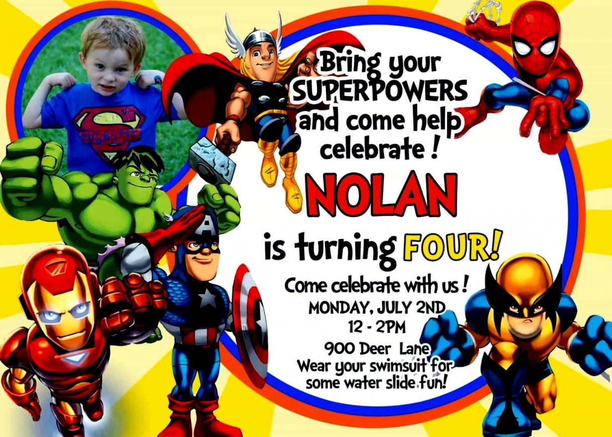 New Of Avengers Birthday Invitations Free Los Vengadores - Avengers Party Invitations Printable Free