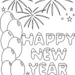 New Year's Coloring Pages | Happy New Year Coloring Printable Pages   New Year Coloring Pages Free Printables