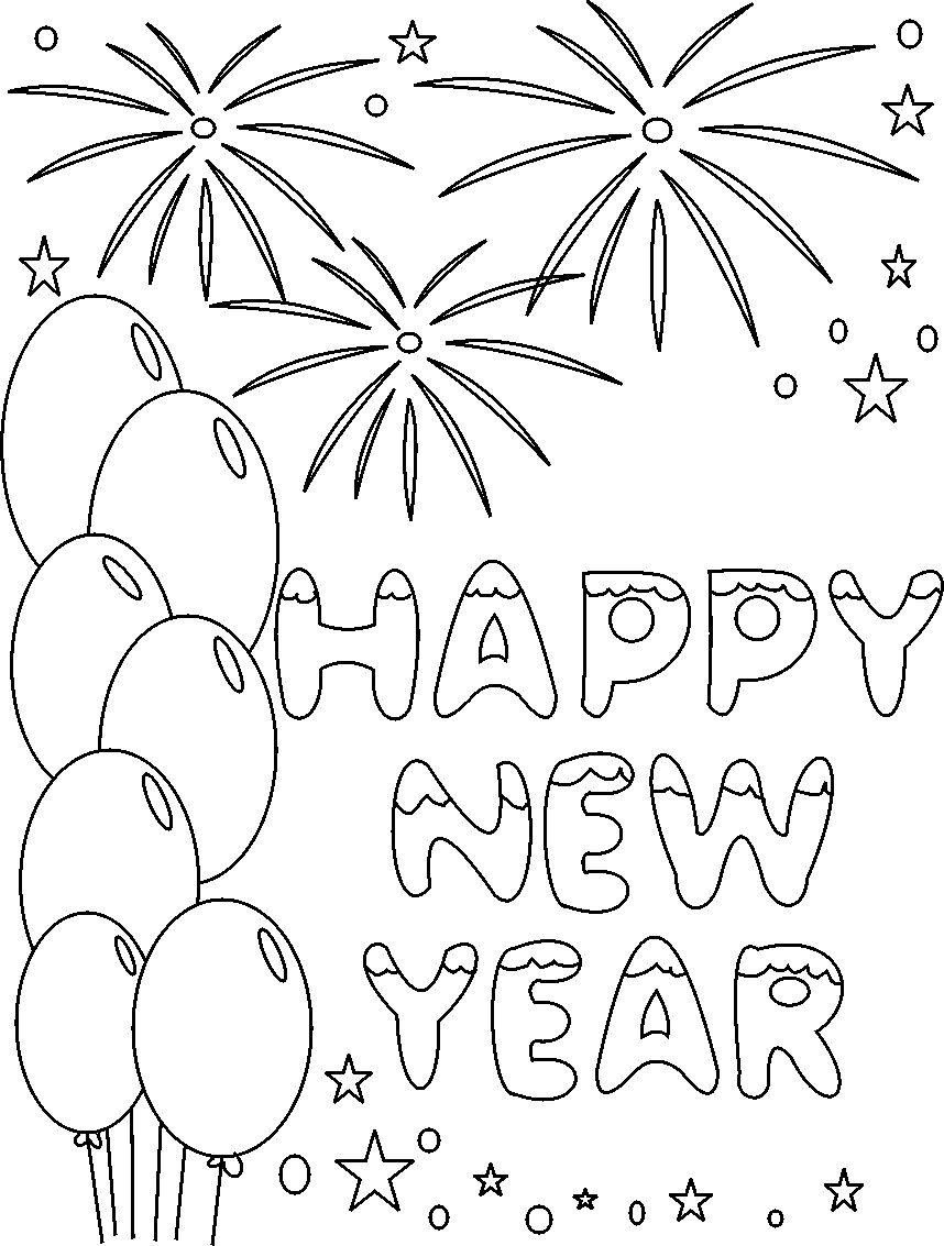 New Year's Coloring Pages | Happy New Year Coloring Printable Pages - New Year Coloring Pages Free Printables