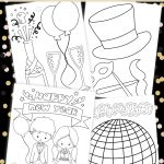 New Year's Eve Coloring Pages For Kids (Free Printable)   New Year Coloring Pages Free Printables
