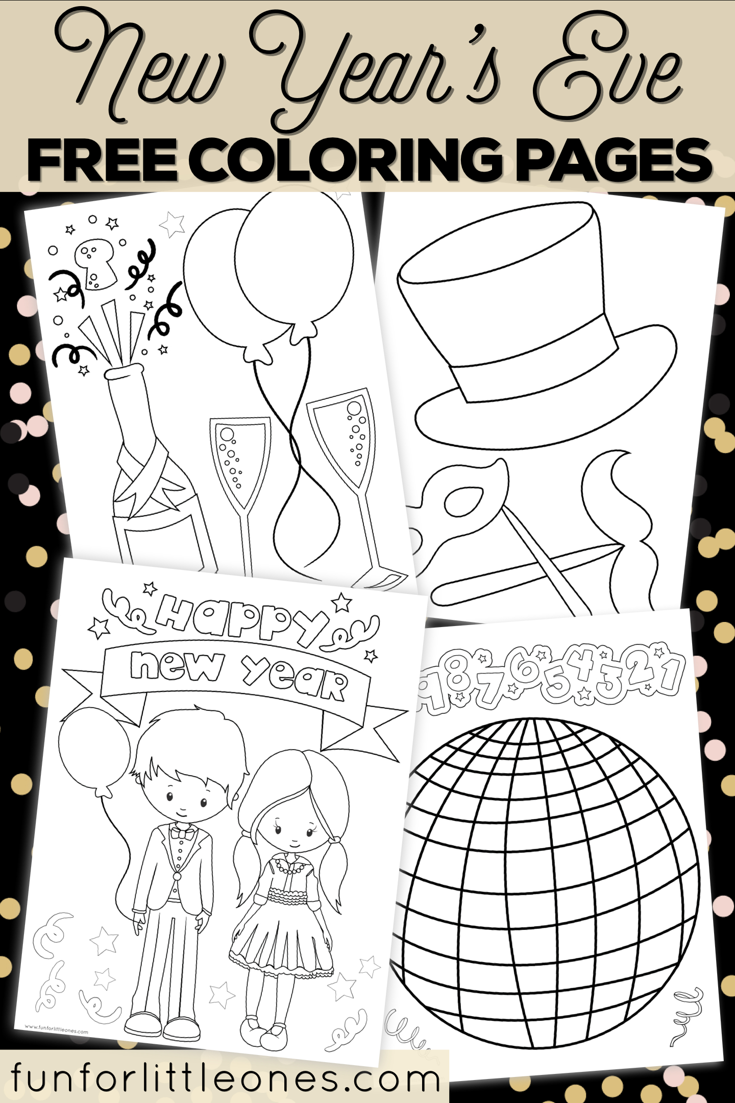 New Year's Eve Coloring Pages For Kids (Free Printable) - New Year Coloring Pages Free Printables