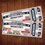 New York Yankees Classic Ticket Sports Party Invitations In 2019   Free Printable Baseball Ticket Birthday Invitations