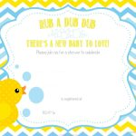 Nice Free Printable Duck Chevron Baby Shower Invitation | Free Baby   Free Chevron Printable Invitations