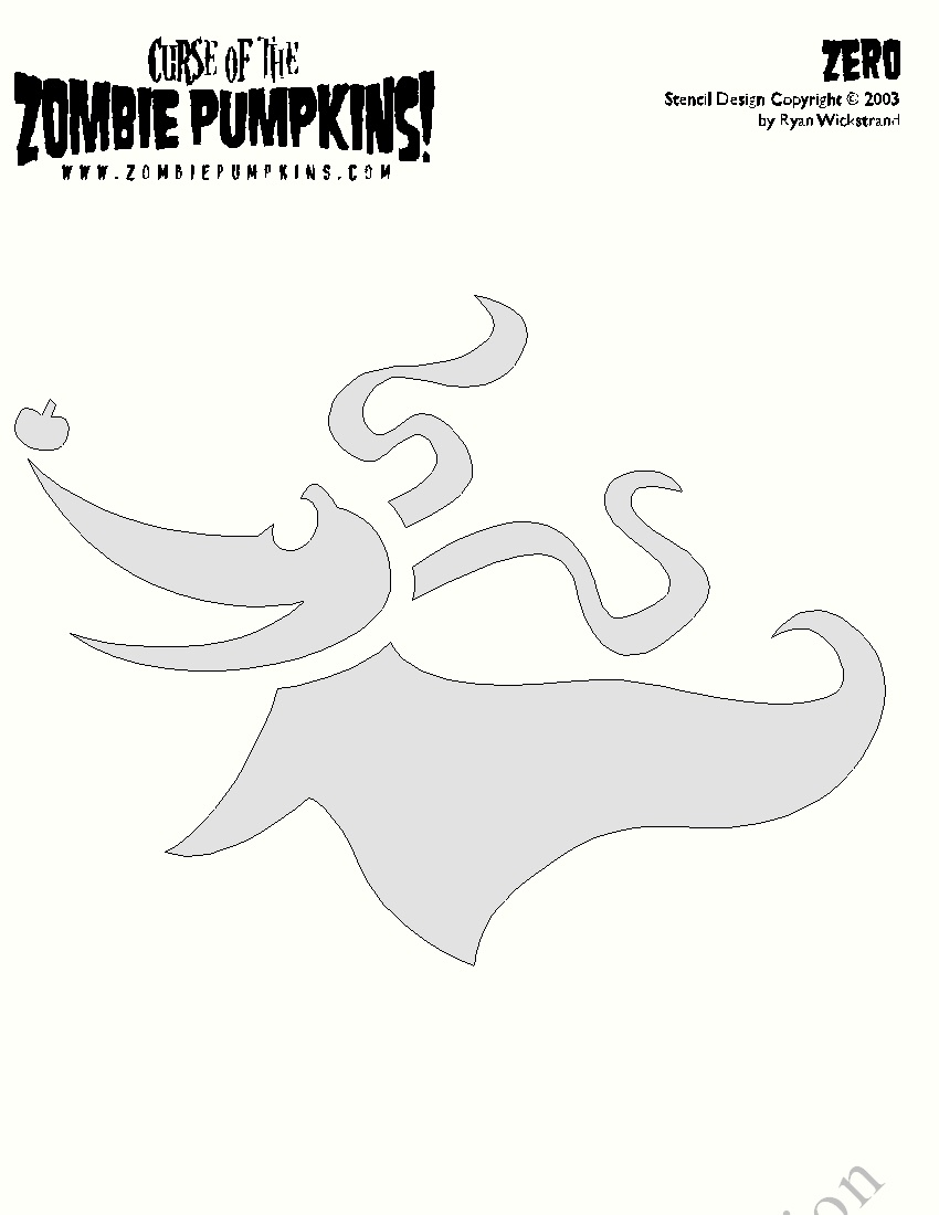 Nightmare Before Christmas Zero Pumpkin Stencil | Decorating Ideas - Free Printable Nightmare Before Christmas Pumpkin Stencils
