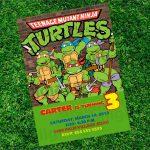 Ninja Turtle Birthday Invitation   Free Printable Tmnt Birthday Party Invitations