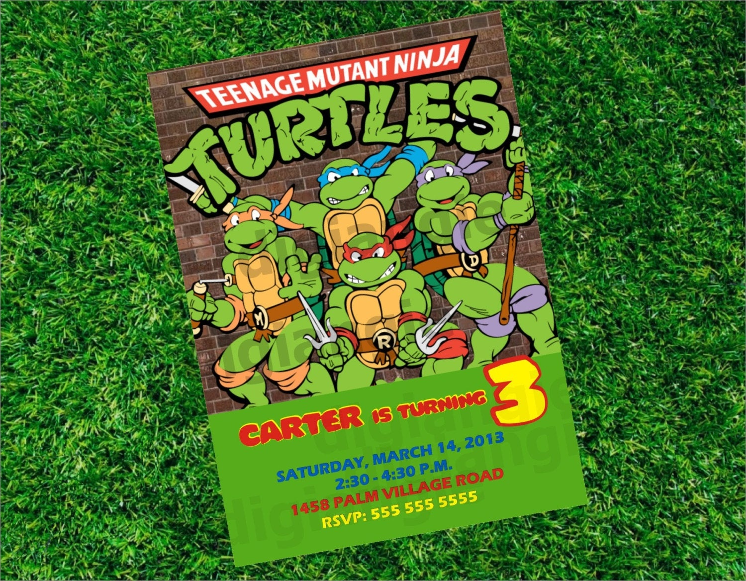 Ninja Turtle Birthday Invitation - Free Printable Tmnt Birthday Party Invitations