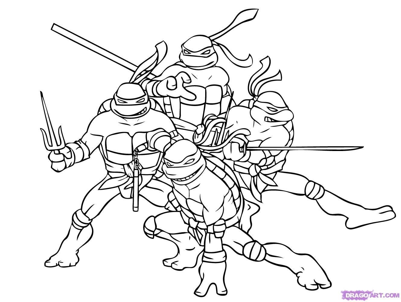 Ninja Turtle Coloring Page Ninja Turtle Coloring Pages Free - Teenage Mutant Ninja Turtles Printables Free