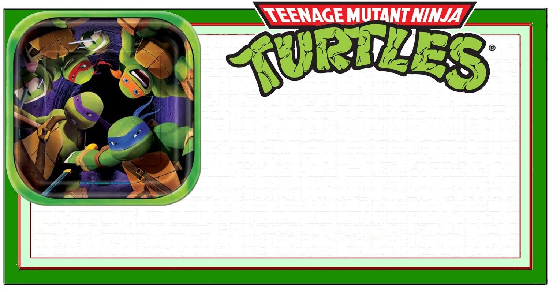 Ninja Turtle Invitation Template | Coolest Invitation Templates - Free Printable Ninja Turtle Birthday Invitations