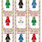 Ninjago Valentine's Day Cards Valentine's Day Cards | Etsy   Free Printable Ninjago Valentine Cards