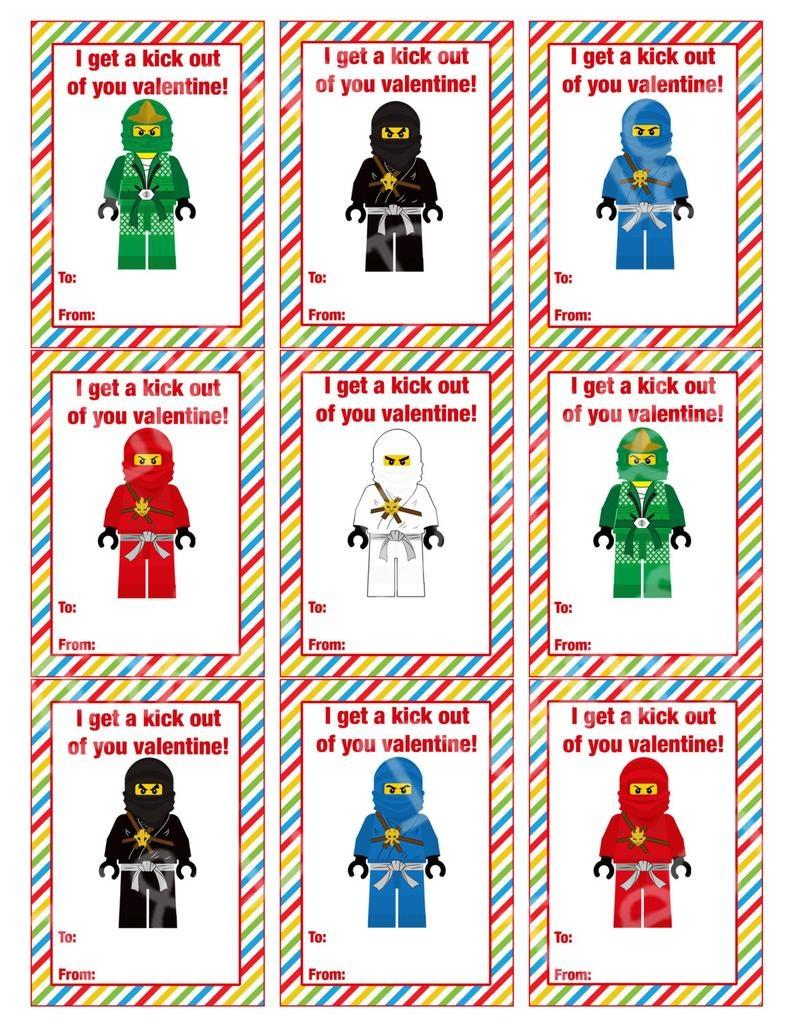 Ninjago Valentine's Day Cards Valentine's Day Cards | Etsy - Free Printable Ninjago Valentine Cards