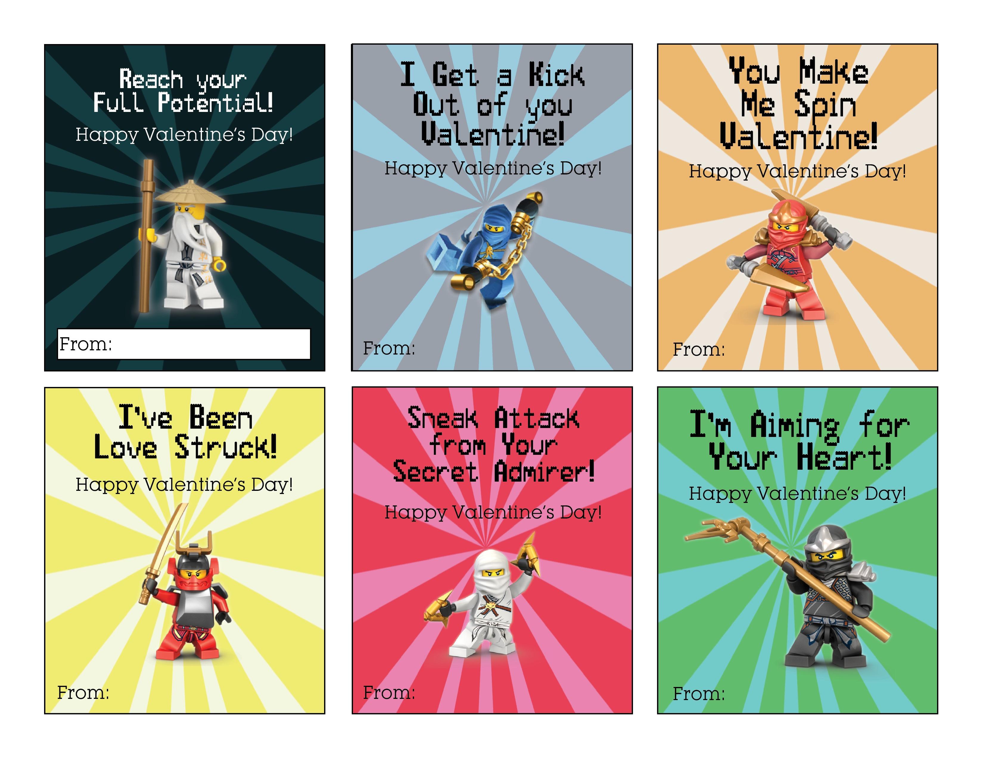 Ninjago Valentine's Free Printable - Over The Big Moon - Free Printable Ninjago Valentine Cards
