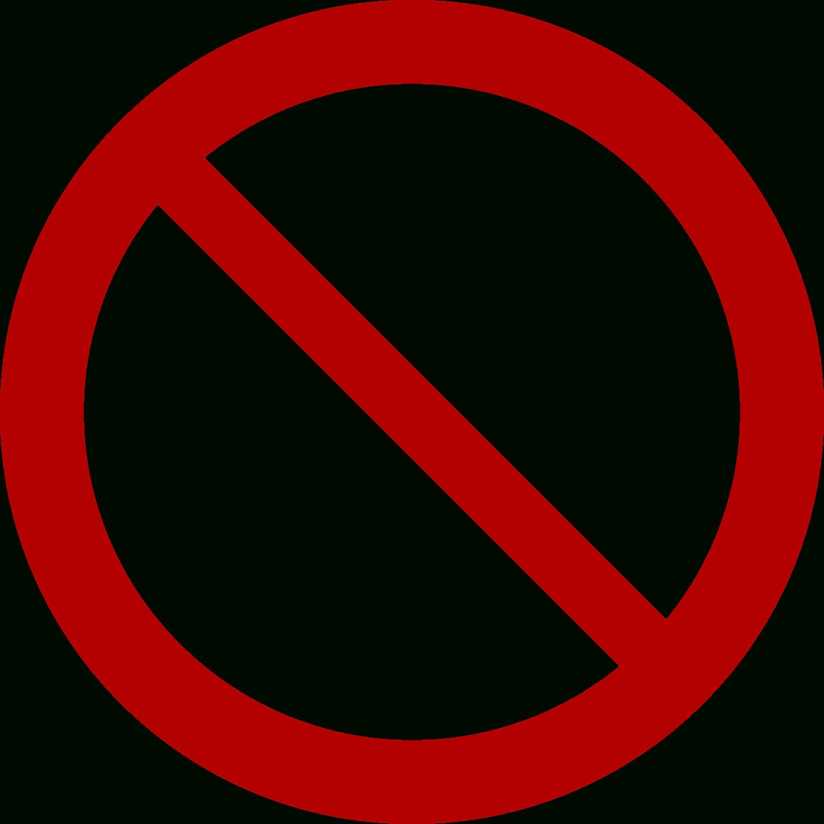 No Symbol - Wikipedia - Free Printable No Entry Sign