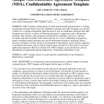 Non Disclosure Agreement Template Free Sample Nda Template Mvrsqrn   Free Printable Non Disclosure Agreement Form