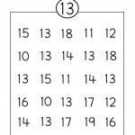 Number 13 Worksheet Circle | Grade R Activities | Preschool   Free Printable Number Worksheets
