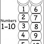 Number Chart 1 10 | Printable Worksheets | Number Chart, Worksheets   Free Printable Numbers 1 10