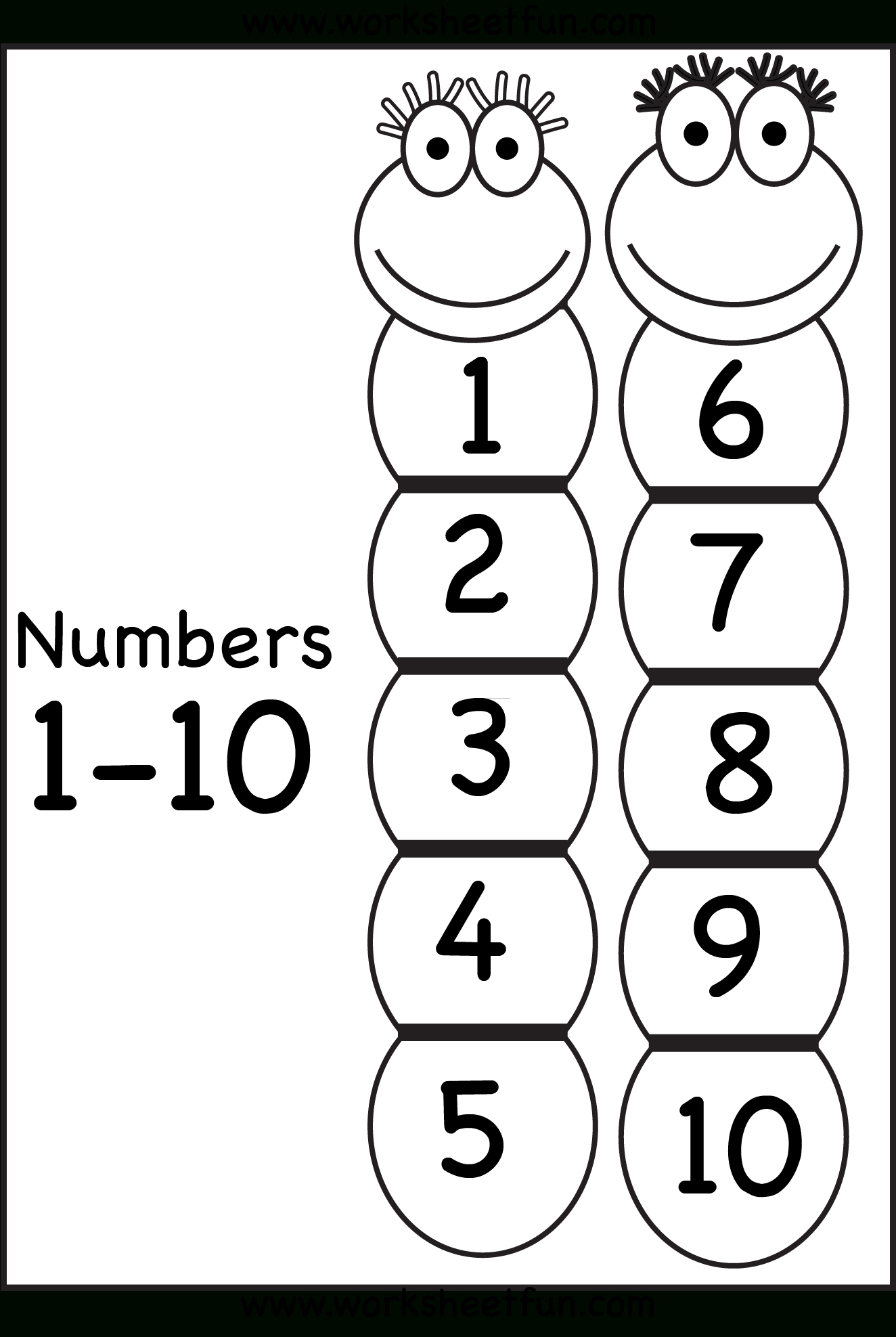 Number Chart 1-10 | Printable Worksheets | Number Chart, Worksheets - Free Printable Numbers 1 10