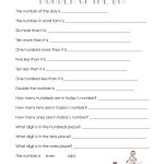 Number Of The Day (Worksheet Collection) | Squarehead Teachers   Free Printable Number Of The Day Worksheets
