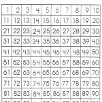 Number Sheet 1 100 To Print | Math Worksheets For Kids | 100 Number   Free Printable Blank 1 120 Chart