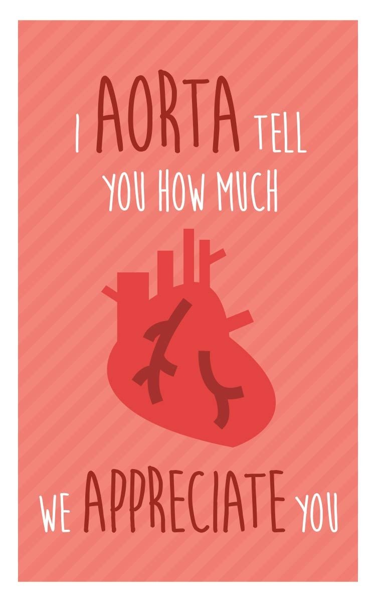"Nurse Week Appreciation Mini-Card - Printable Download - ""i Aorta - Nurses Week 2016 Cards Free Printable"