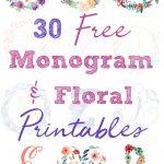 Nursery Decor Series: 30 Free Monogram Printables   Free Printable Monogram Initials