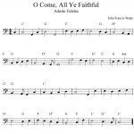 O Come, All Ye Faithful, Simple Music For Trombone. | Music & Things   Sheet Music For Trombone Free Printable