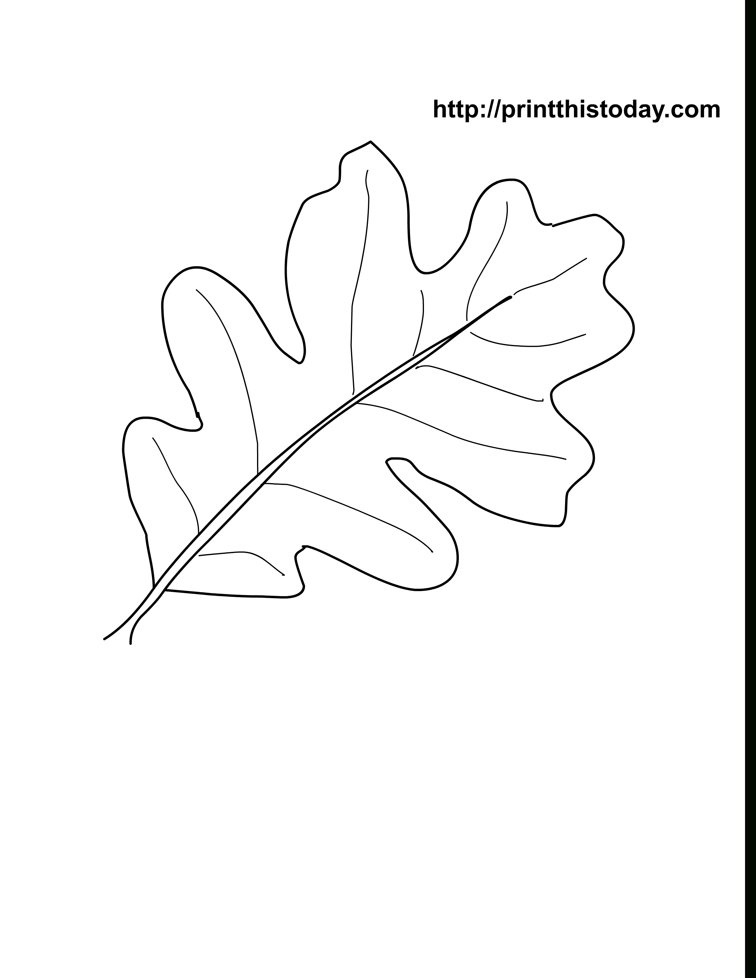 Oak Leaves Coloring Pages Printable | Craft Ideas | Leaf Coloring - Free Printable Leaf Template