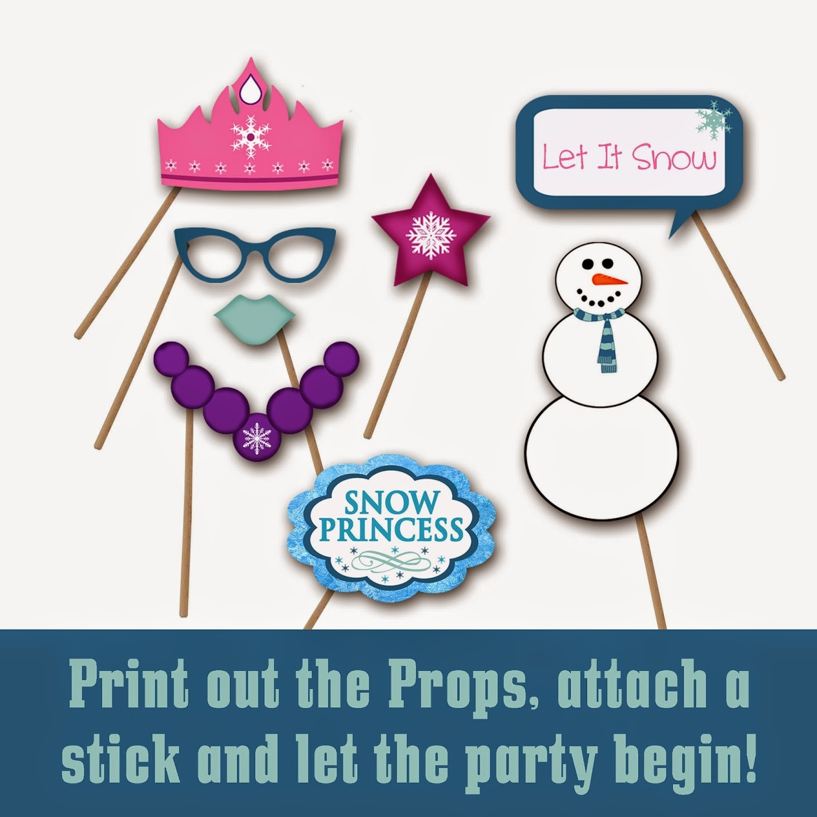 Old Market Corner: Frozen Snow Princess Photo Booth Props - Free Printable Frozen Photo Booth Props