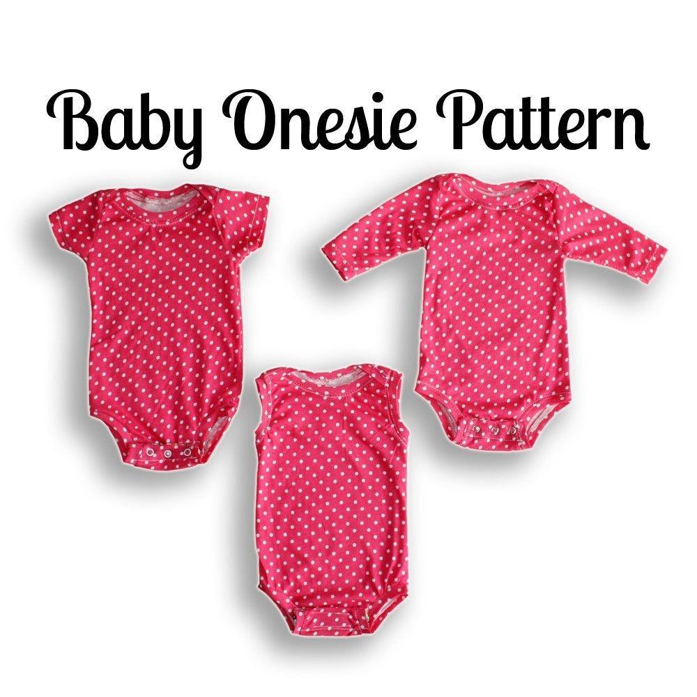 Onesie Sewing Pattern | Nb-36 Months | Projects To Try | Baby Sewing - Free Printable Onesie Pattern