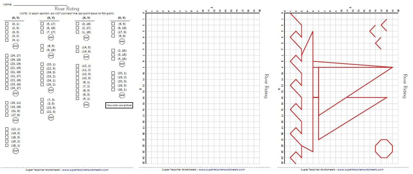 Ordered Pairs And Coordinate Plane Worksheets - Free Printable Coordinate Graphing Pictures Worksheets