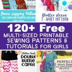 Over 120 Free Printable Sewing Patterns And Tutorials For Girls   Free Printable Sewing Patterns For Kids