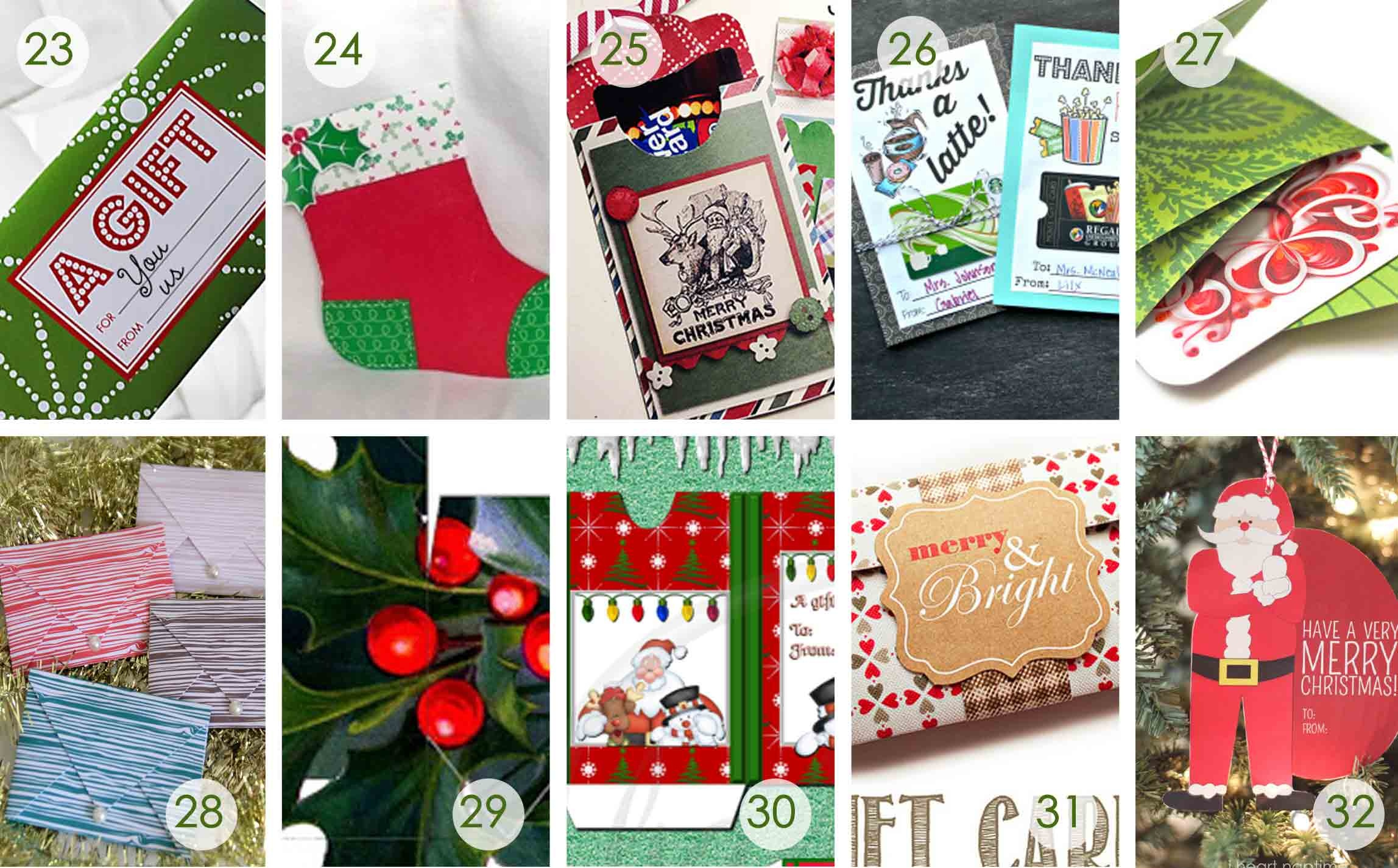 Over 50 Printable Gift Card Holders For The Holidays | Gcg - Free Printable Christmas Gift Card Envelopes