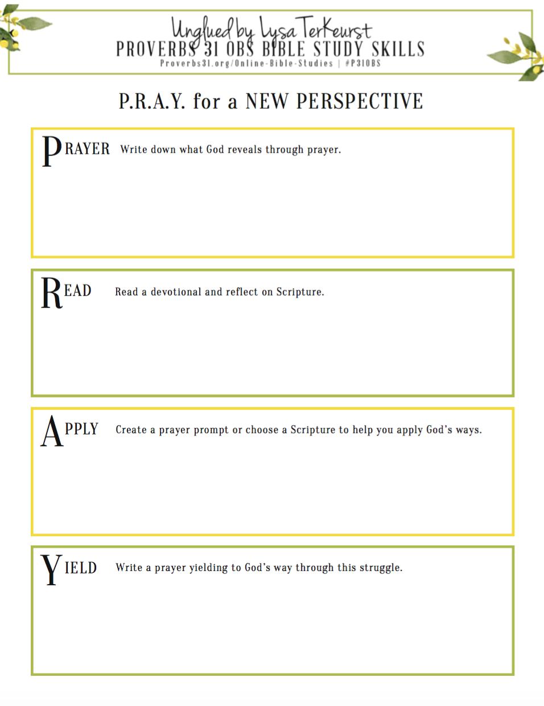 P.r.a.y.   Faith   Free Bible Study, Bible Study Journal, Online - Free Online Printable Bible Studies