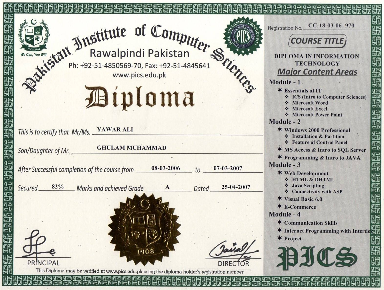 Pakistan Institute Of Computer Sciences, Free Online Certification - Free Online Courses With Printable Certificates