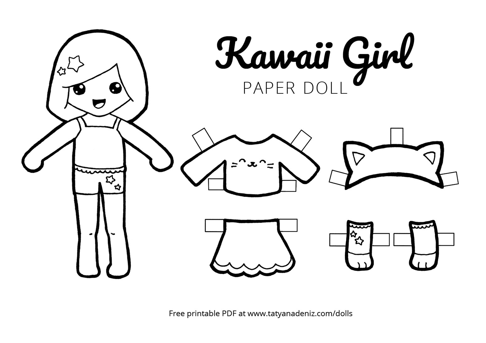 Paper Doll Clothes Coloring Pages – Salumguilher - Free Printable Paper Dolls Black And White