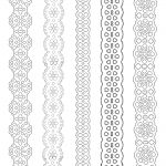 Paper Lace Ribbons To Print And Paint Everywhere. | Painting   Free Printable Lace Stencil