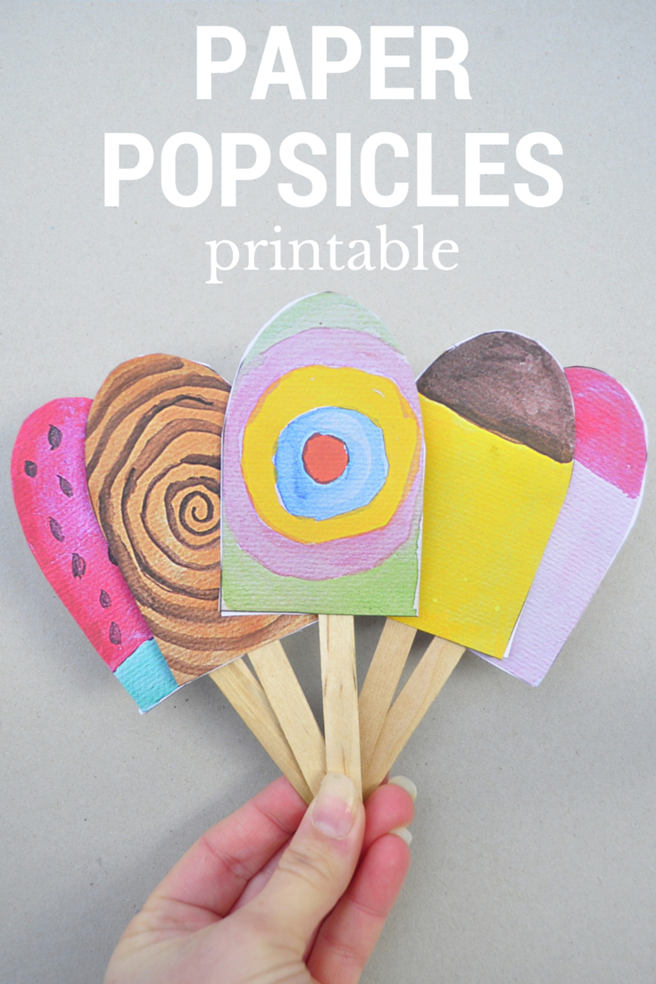 Paper Popsicles – For Imaginative Play – Be A Fun Mum - Free Printable Popsicle Template