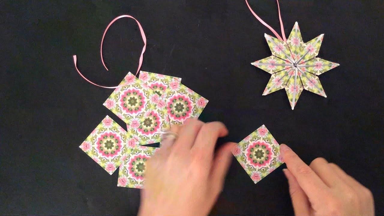 Paper Star Ornament Teabag Folding Tutorial - Youtube - Free Printable Tea Bag Folding Patterns