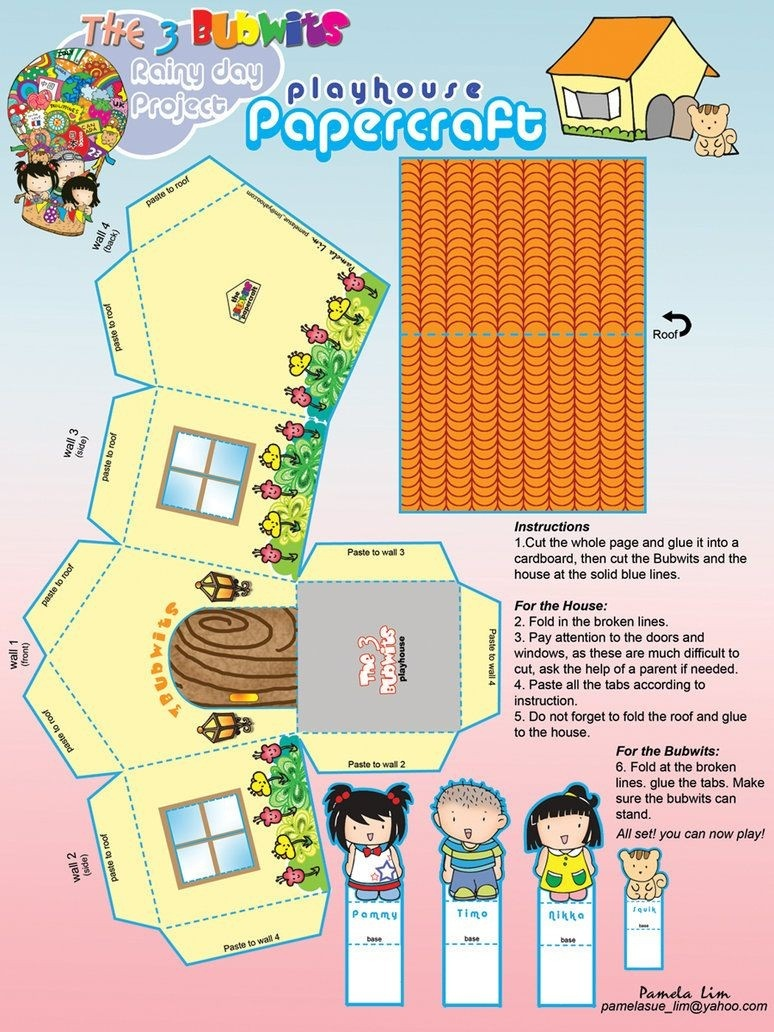 Papercraft Home Free Printable Papercraft Housepammylim On - Printable Paper Crafts Free