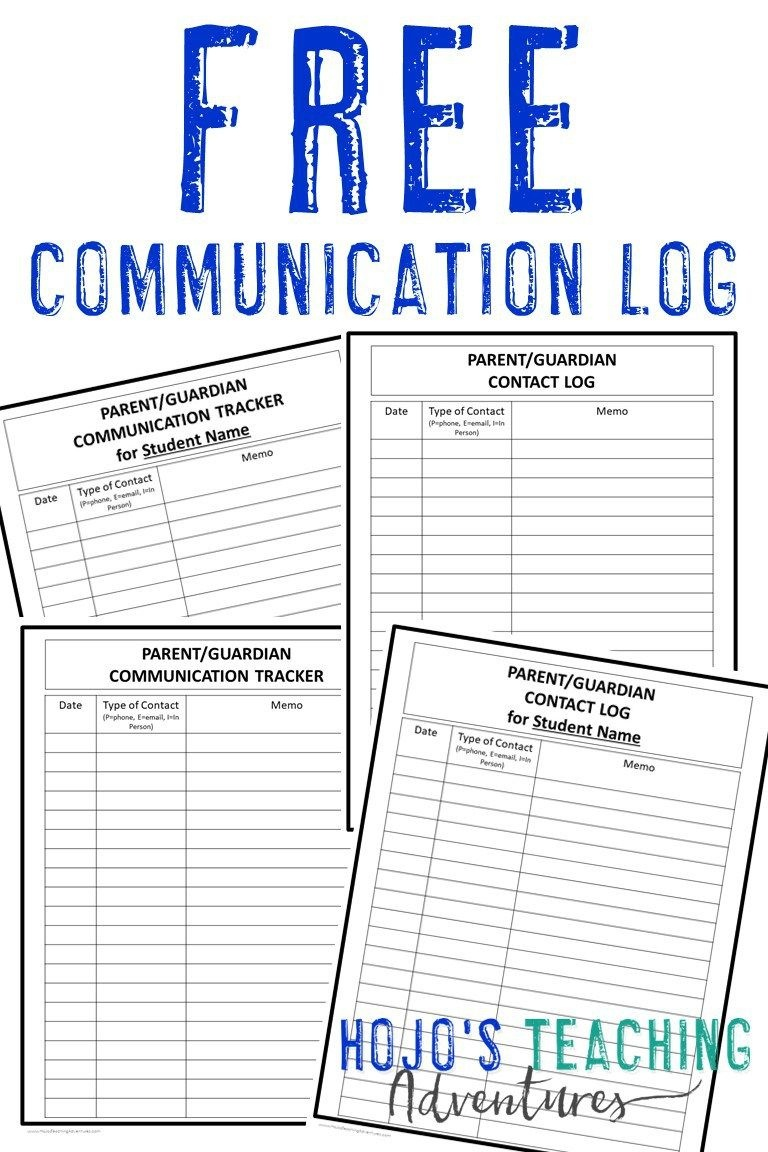 Parent And Family Communication Log | Classroom | Parent Teacher - Free Printable Parent Communication Log For Teachers